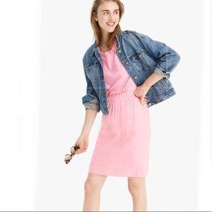 J.CREW Point Sur Pull-On Linen Skirt in Dover Pink